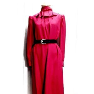 1980s Vintage Nina Ricci Silk Dress